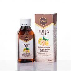 Антипаразитарный комплекс: Масло с прополисом и растительными добавками ЖИВА №5, 100 мл, ЖИВА